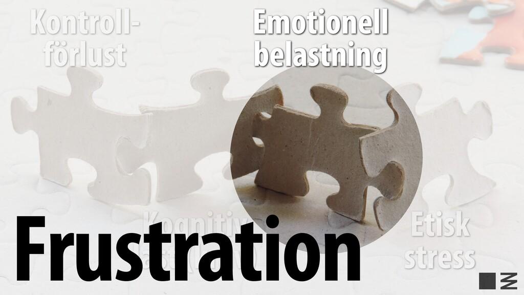 Etisk stress Kontroll- förlust Kognitiv last (k...