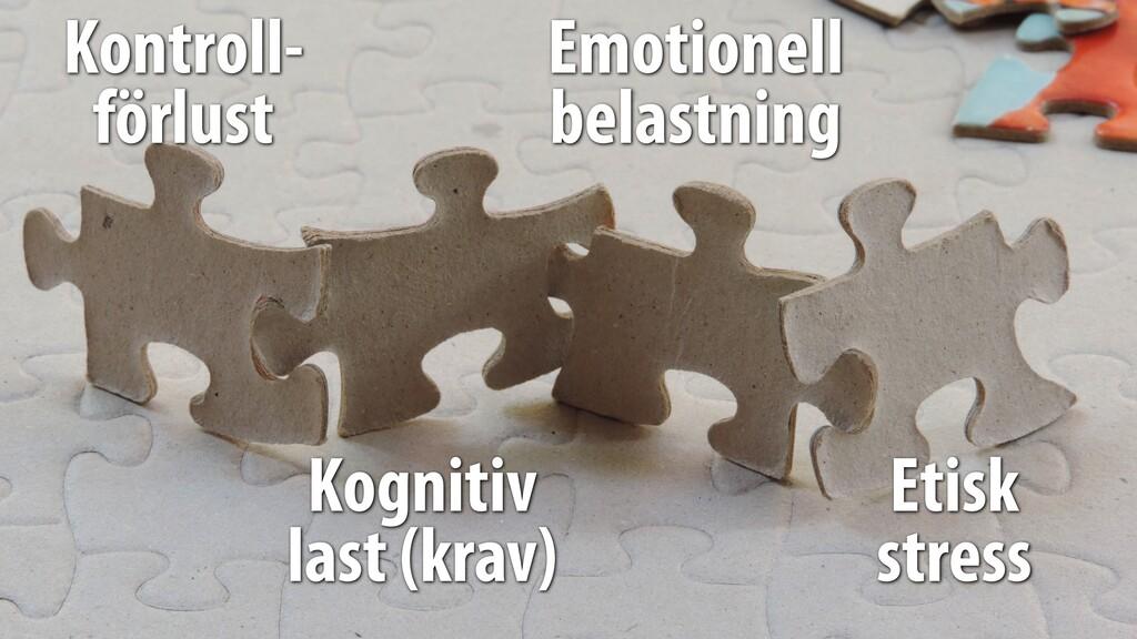 Kontroll- förlust Kognitiv last (krav) Emotione...