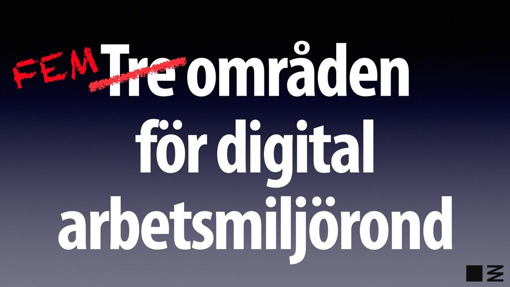 Tre områden för digital arbetsmiljörond FEM