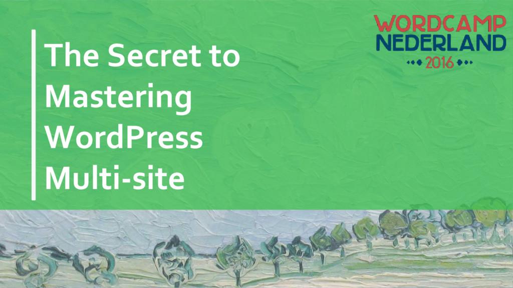 The Secret to Mastering WordPress Multi-site
