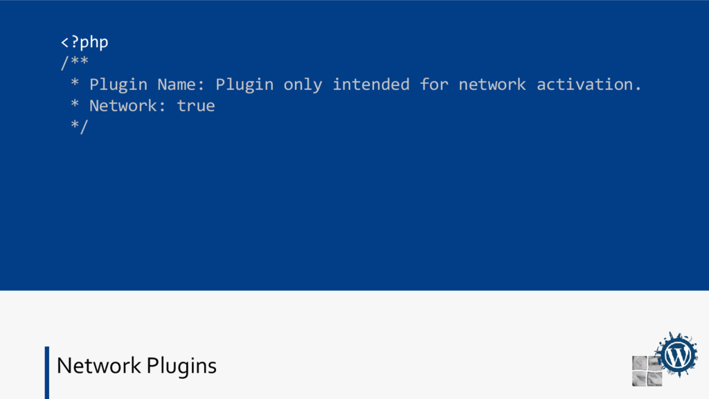 Network Plugins <?php /** * Plugin Name: Plugin...