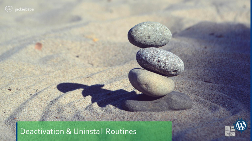 Deactivation & Uninstall Routines jackiebabe