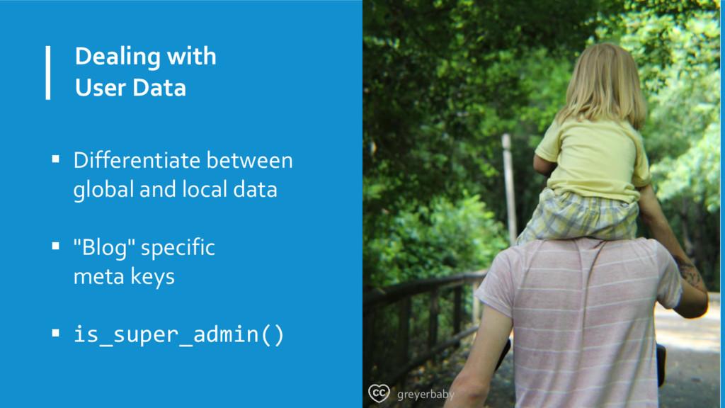 Dealing with User Data  Differentiate between ...