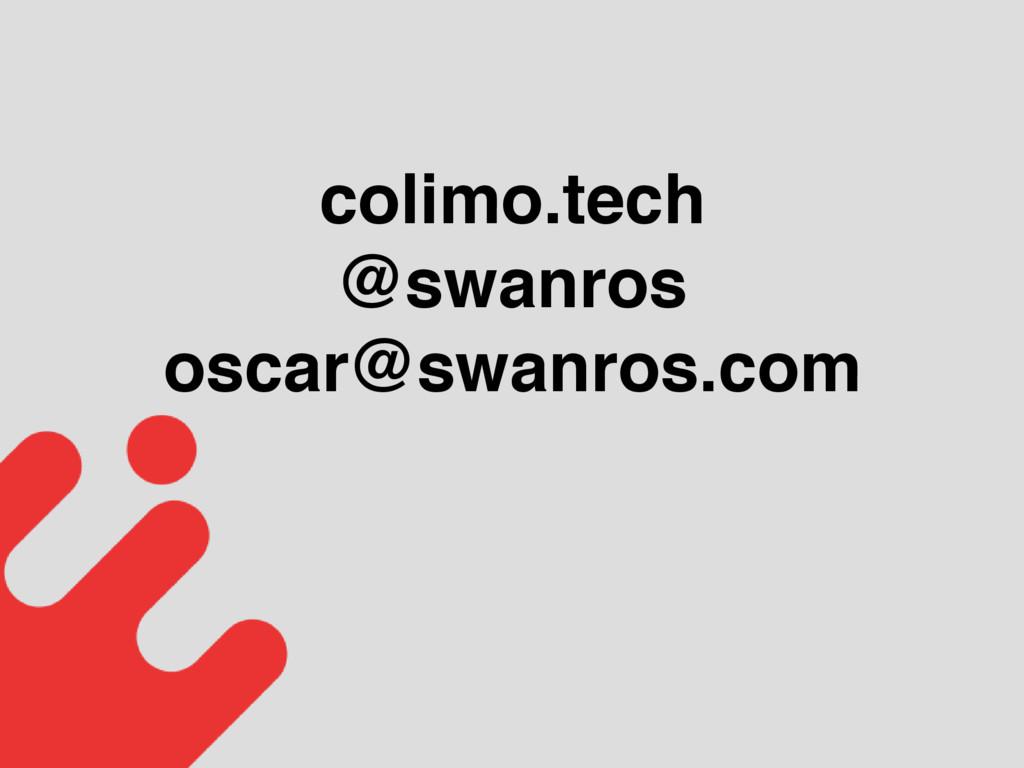 colimo.tech @swanros oscar@swanros.com