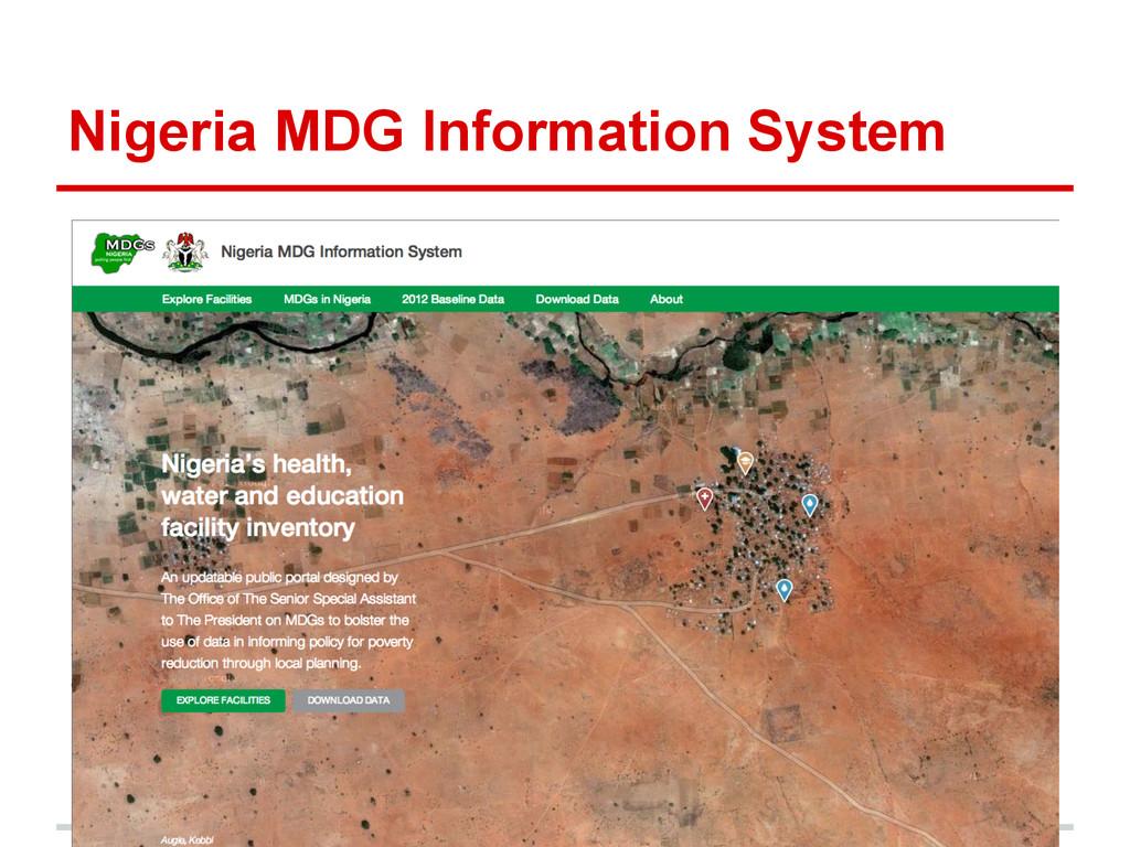 Nigeria MDG Information System