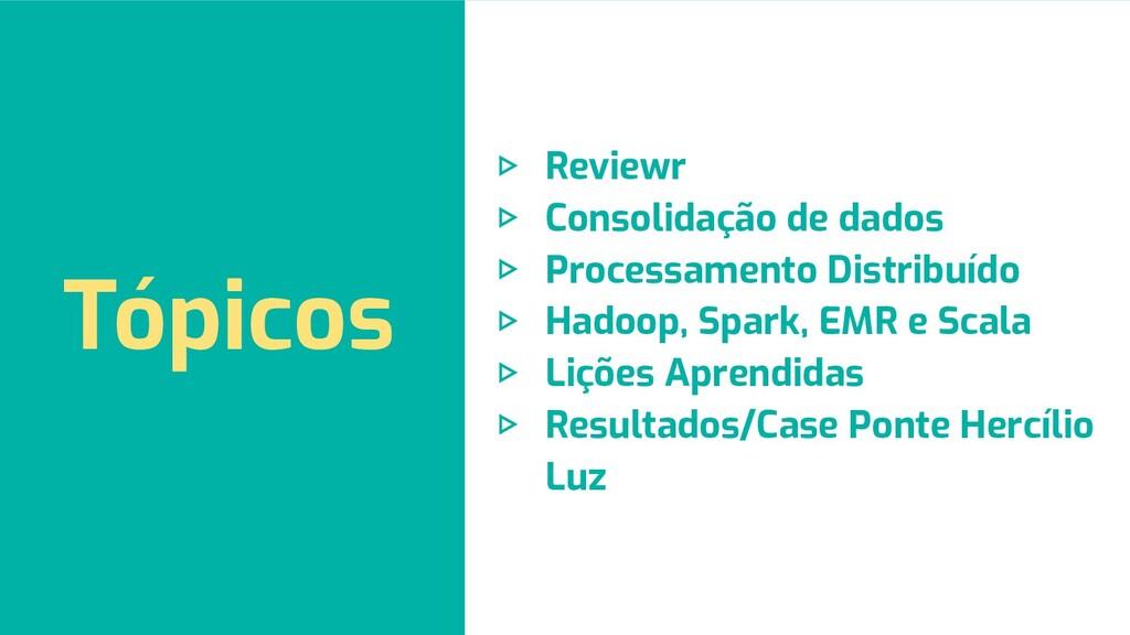 Tópicos ▷ Reviewr ▷ Consolidação de dados ▷ Pro...