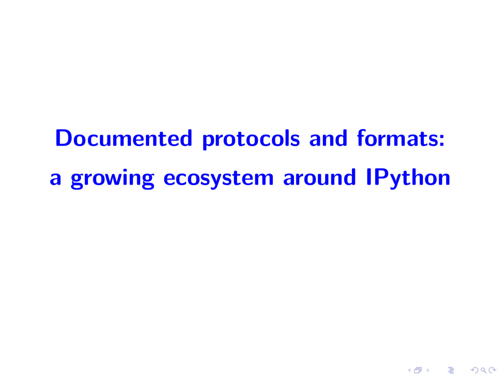 Documented protocols and formats: a growing eco...
