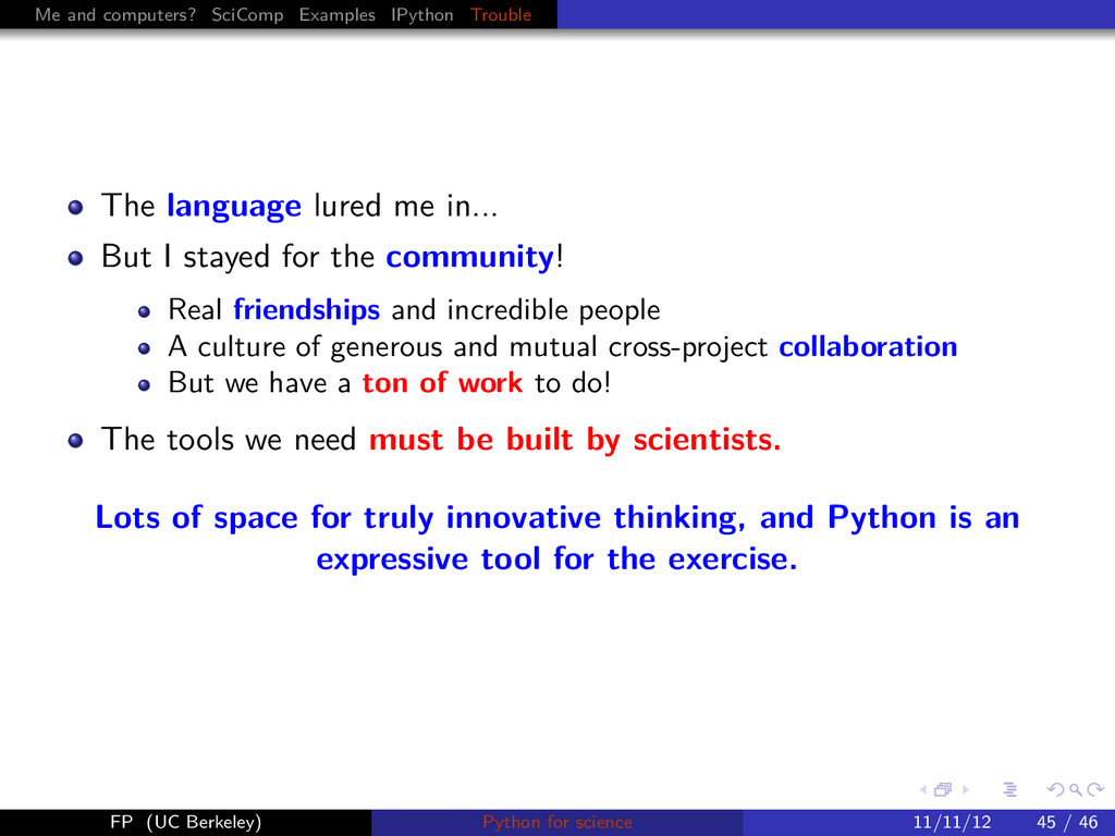 Me and computers? SciComp Examples IPython Trou...