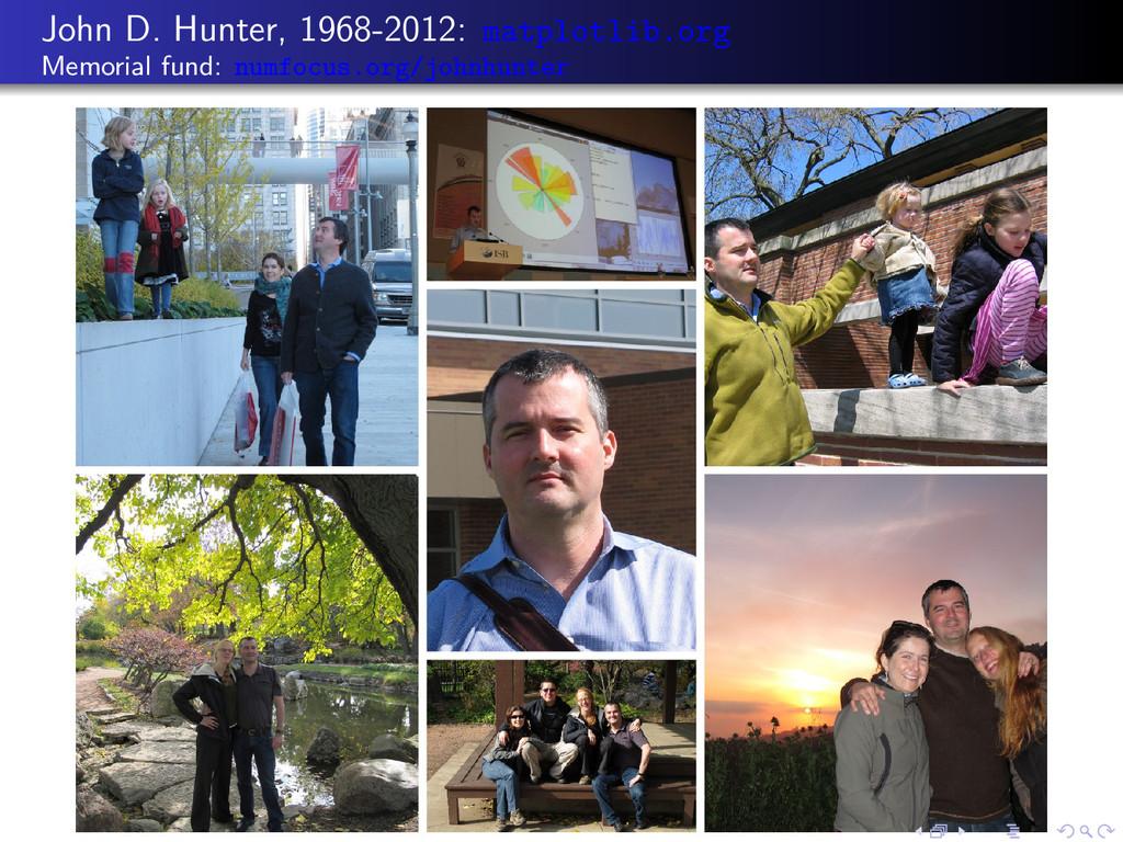 John D. Hunter, 1968-2012: matplotlib.org Memor...