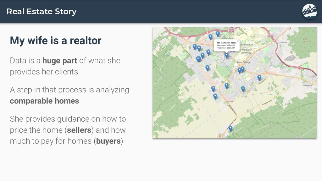 Real Estate Story My wife is a realtor Data is ...