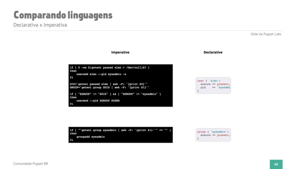 Comparando linguagens Declarativa x Imperativa ...