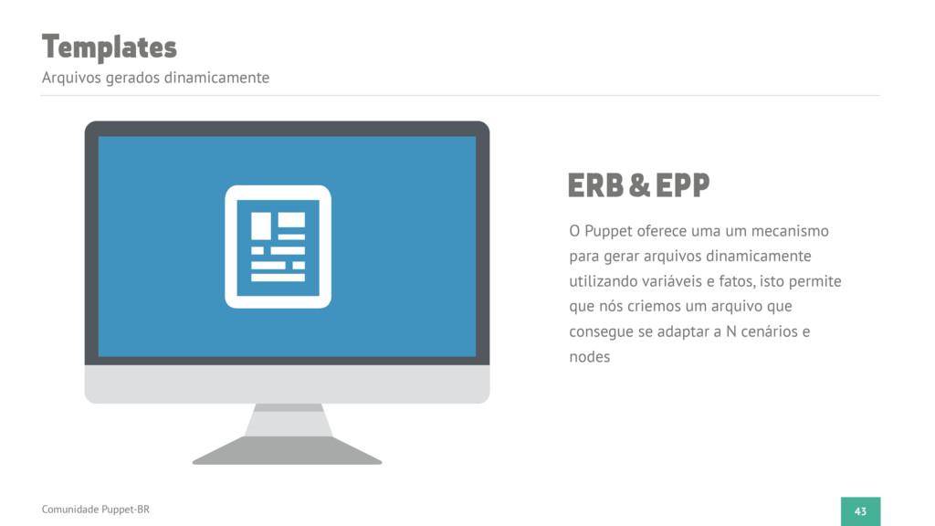 Templates Arquivos gerados dinamicamente 43 ERB...