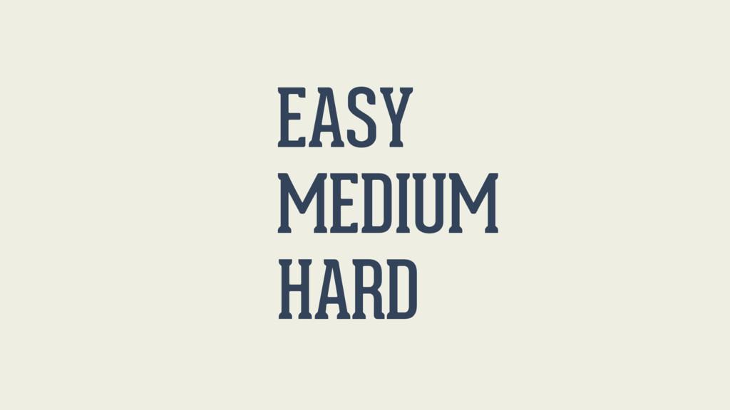 EASY MEDIUM HARD