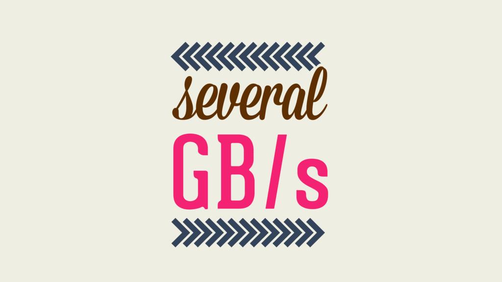 >>>>>>>>>>>>> <<<<<<<<<<<<< l l several GB/s