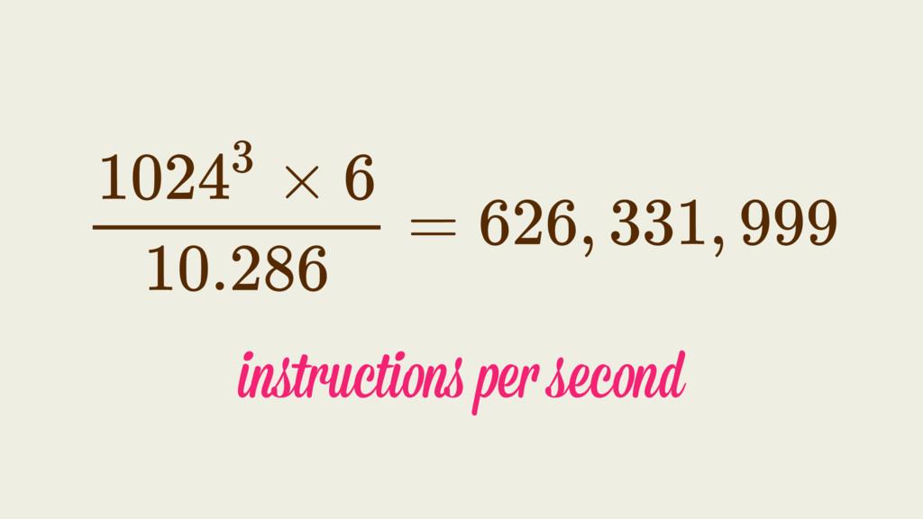 instructions per second
