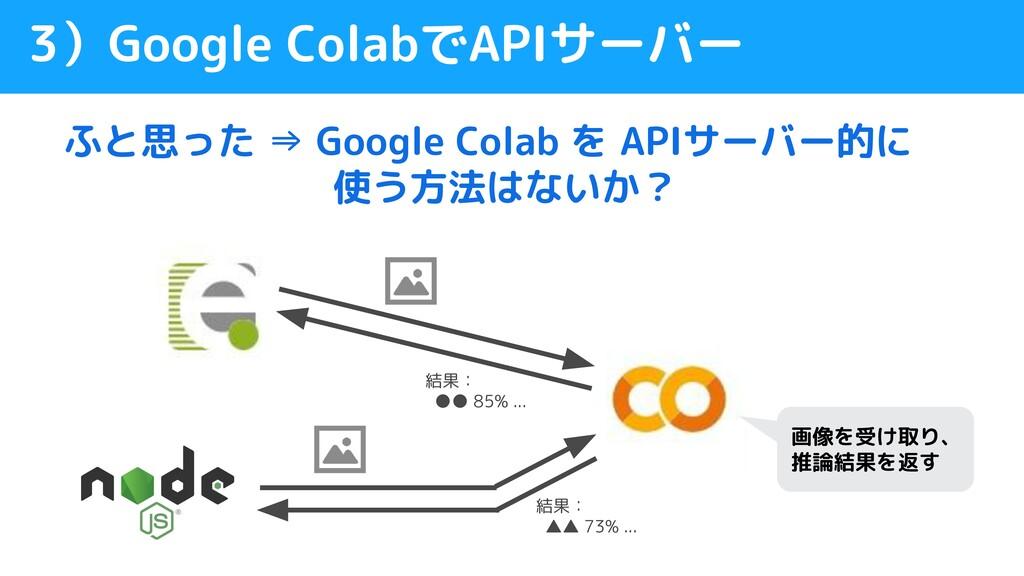 ふと思った ⇒ Google Colab を APIサーバー的に        使う方法はない...