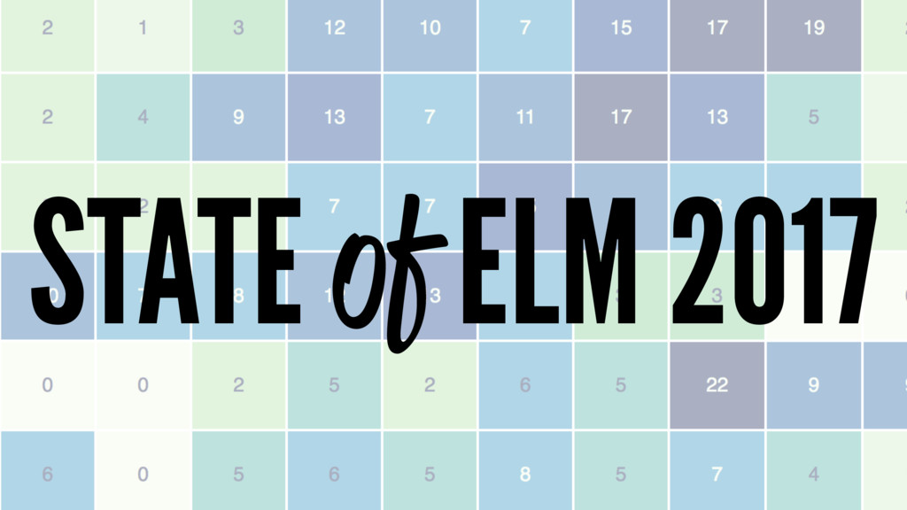 STATE of ELM 2017