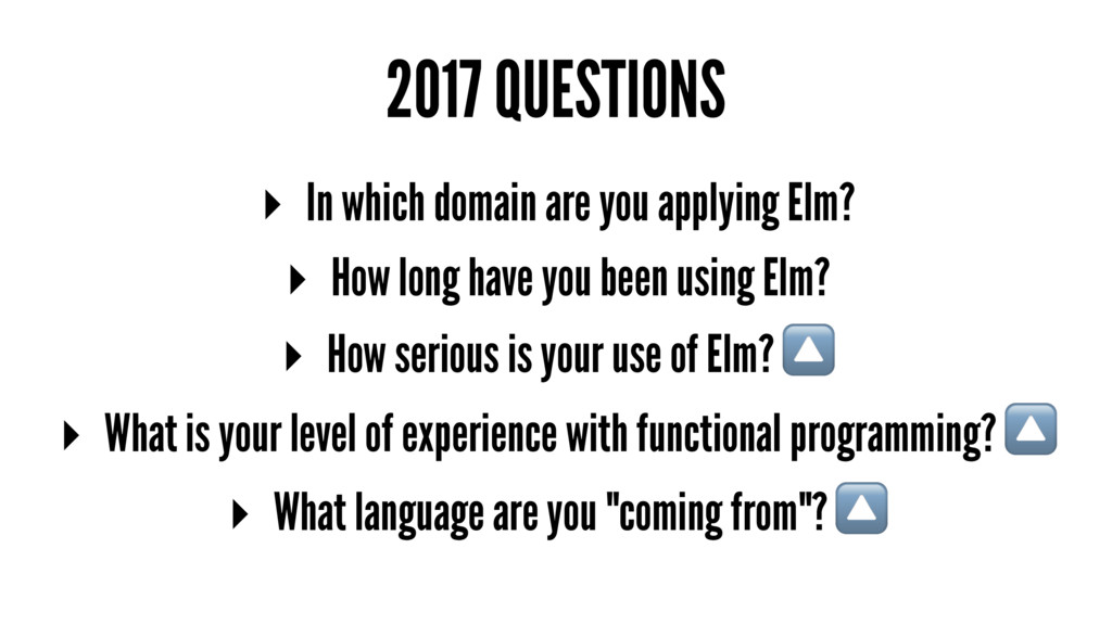 2017 QUESTIONS ▸ In which domain are you applyi...