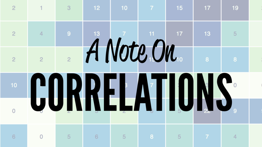 A Note On CORRELATIONS