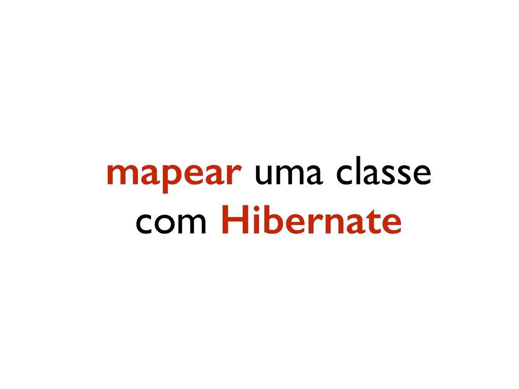 mapear uma classe com Hibernate