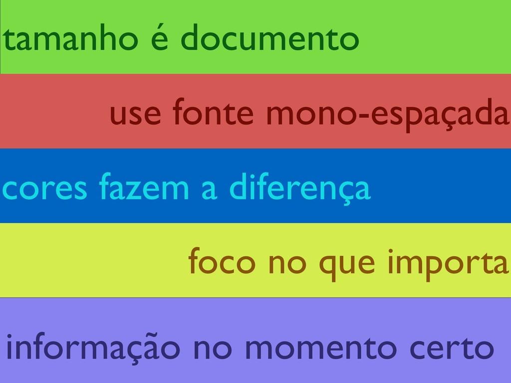 tamanho é documento foco no que importa cores f...