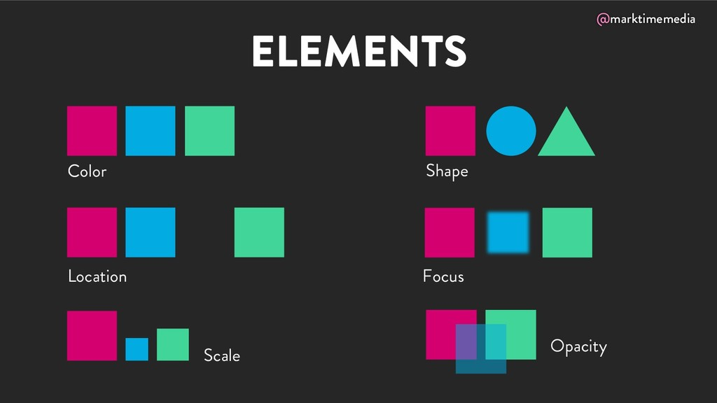 @marktimemedia ELEMENTS Color Location Shape Op...
