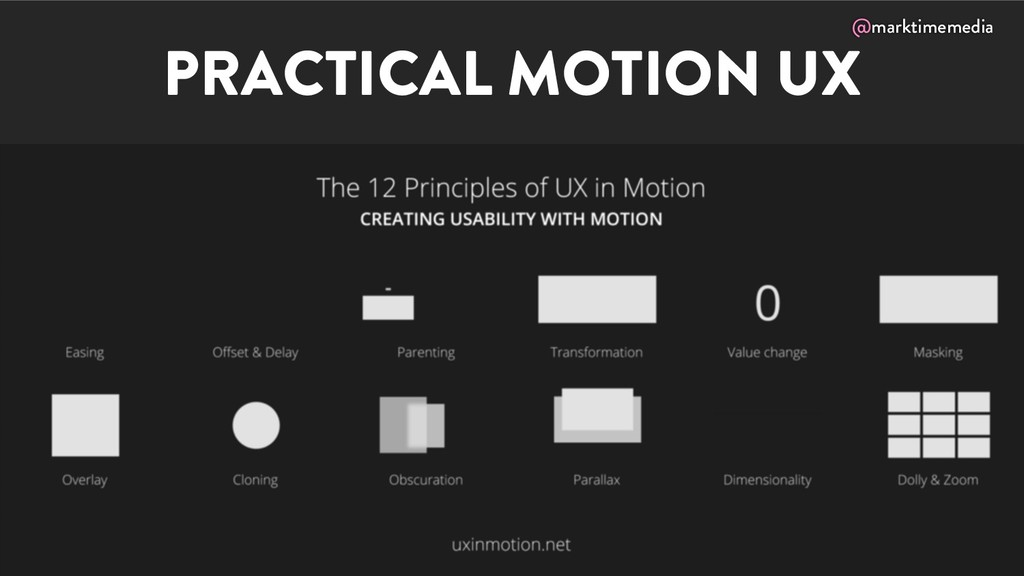 @marktimemedia PRACTICAL MOTION UX