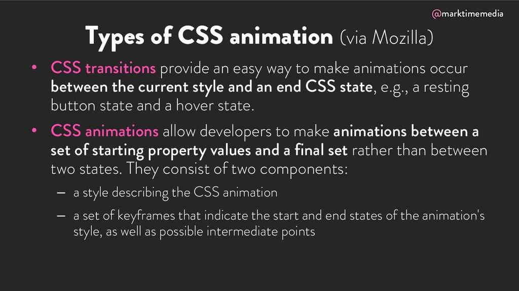 @marktimemedia Types of CSS animation (via Mozi...