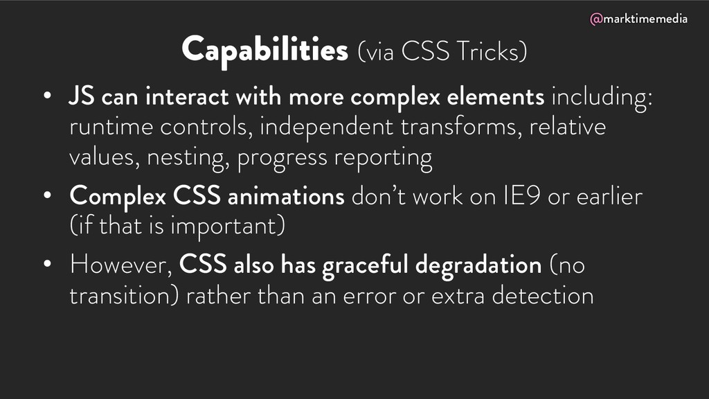 @marktimemedia Capabilities (via CSS Tricks) • ...