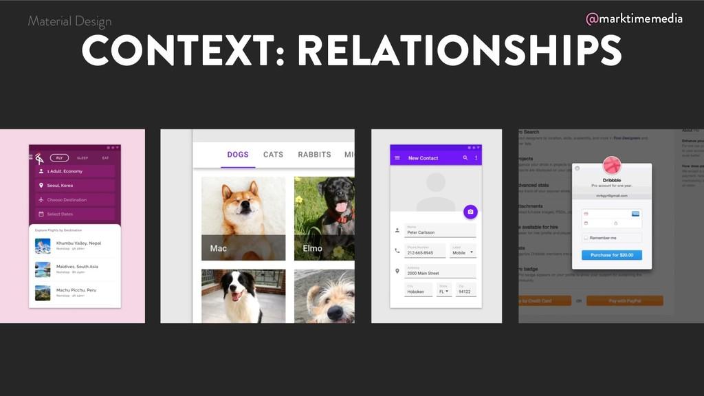 @marktimemedia CONTEXT: RELATIONSHIPS Material ...