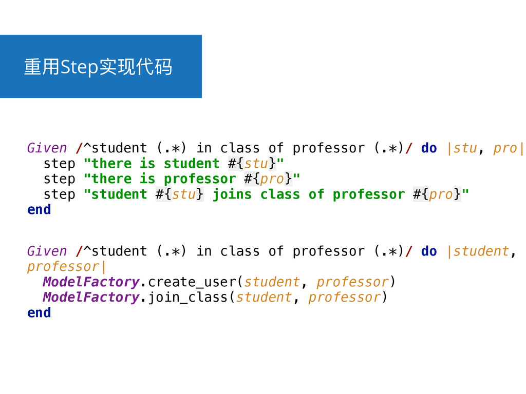 ᯿አStepਫሿդᎱ Given /^student (.*) in class of pro...