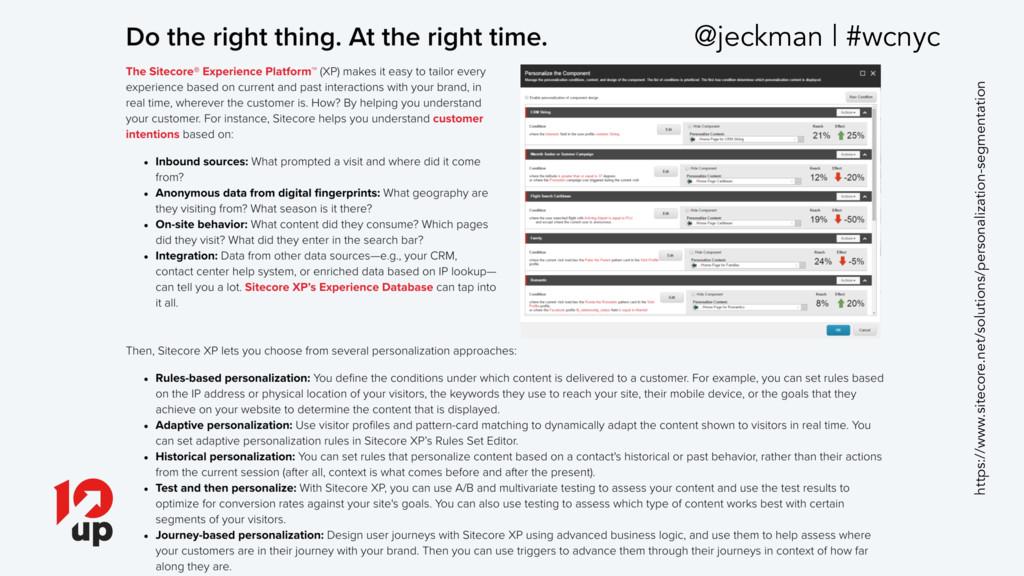@jeckman | #wcnyc https://www.sitecore.net/solu...