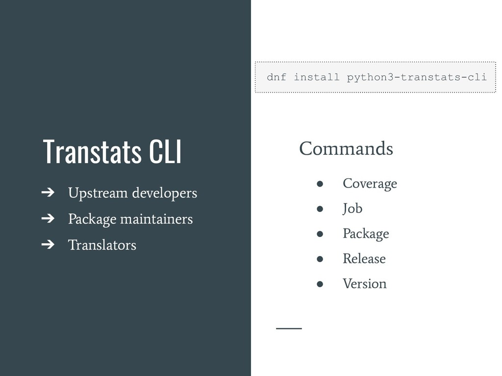 Transtats CLI ➔ Upstream developers ➔ Package m...