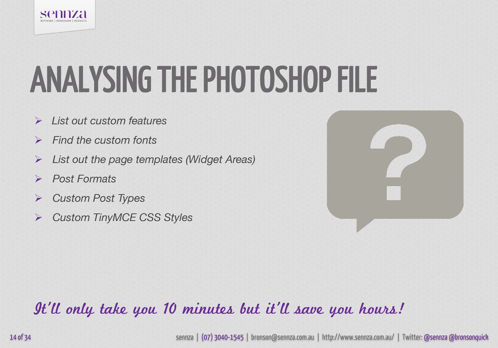 ANALYSING THE PHOTOSHOP FILE  List out custom ...