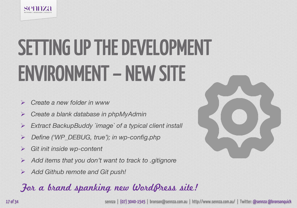 SETTING UP THE DEVELOPMENT ENVIRONMENT – NEW SI...