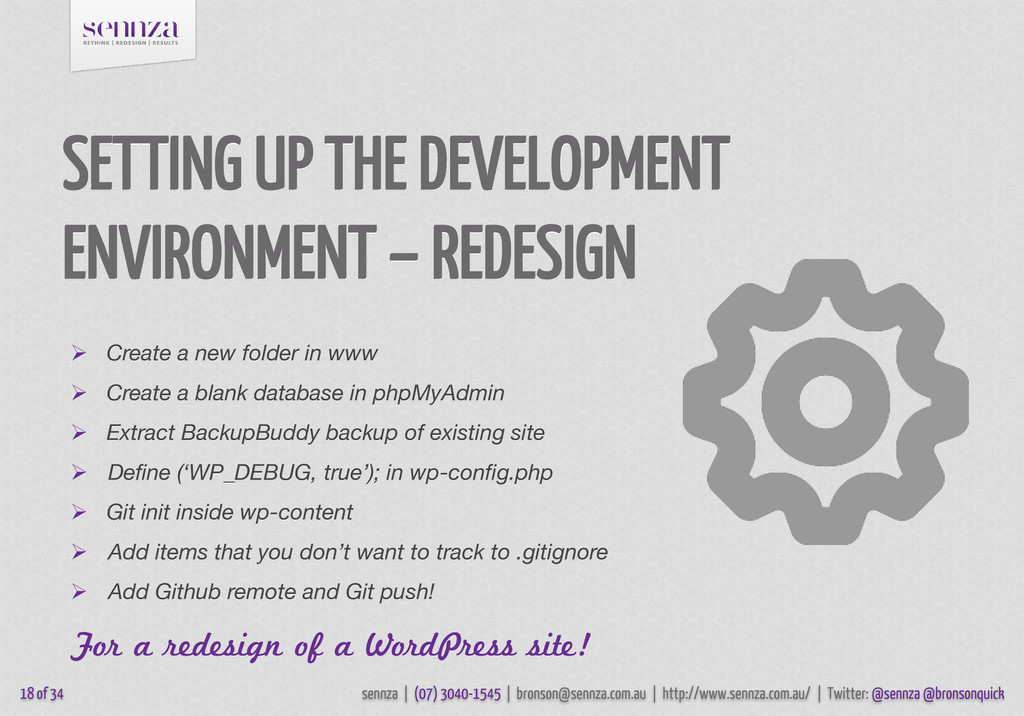SETTING UP THE DEVELOPMENT ENVIRONMENT – REDESI...