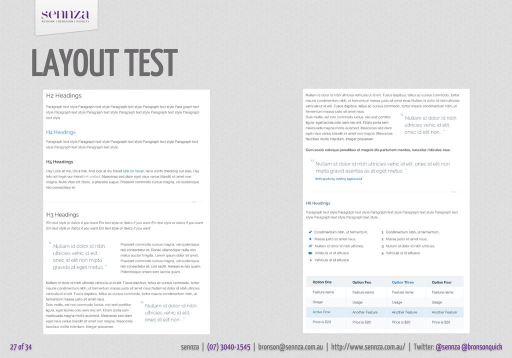 LAYOUT TEST 27 of 34 sennza | (07) 3040-1545 | ...