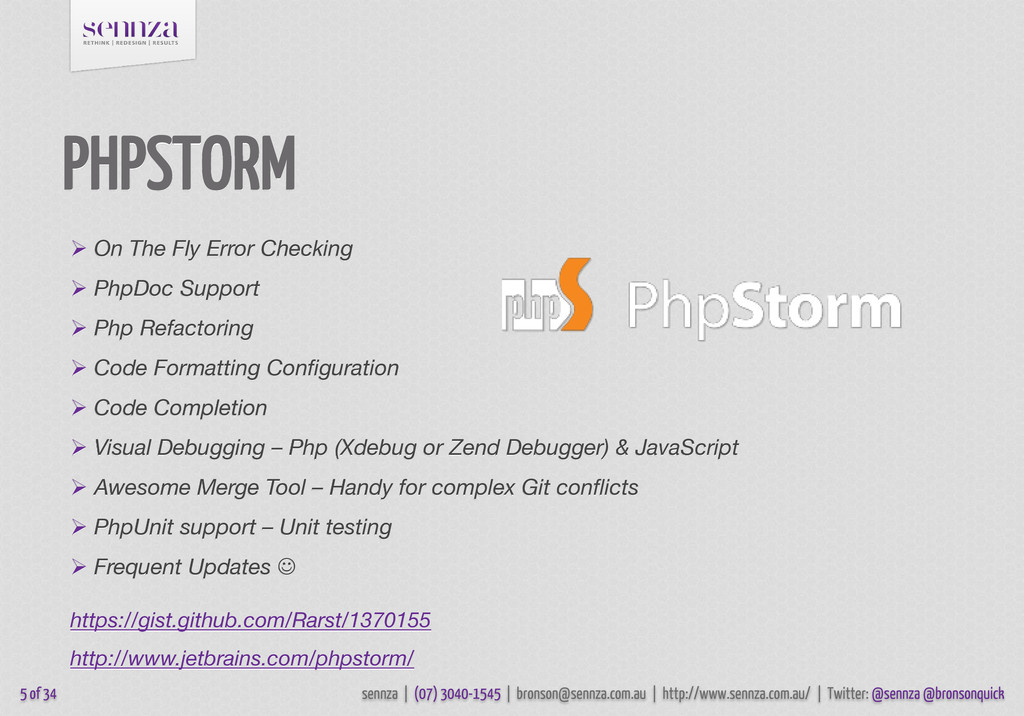 PHPSTORM 5 of 34  On The Fly Error Checking  ...