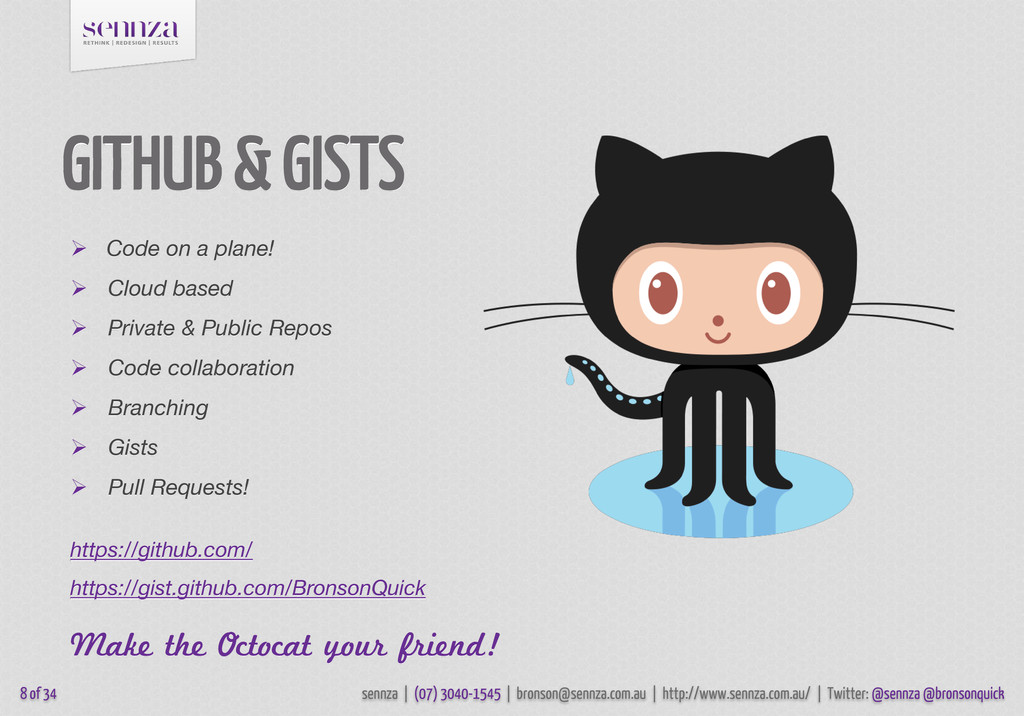 GITHUB & GISTS 8 of 34  Code on a plane!  Clo...
