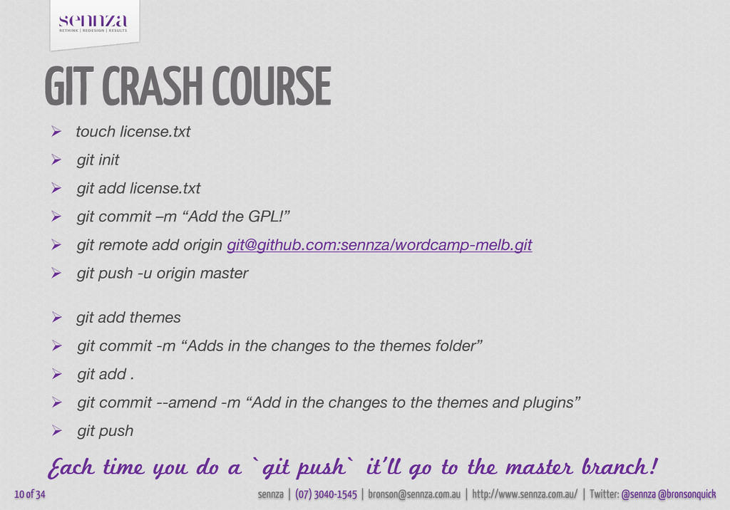 GIT CRASH COURSE 10 of 34 sennza | (07) 3040-15...