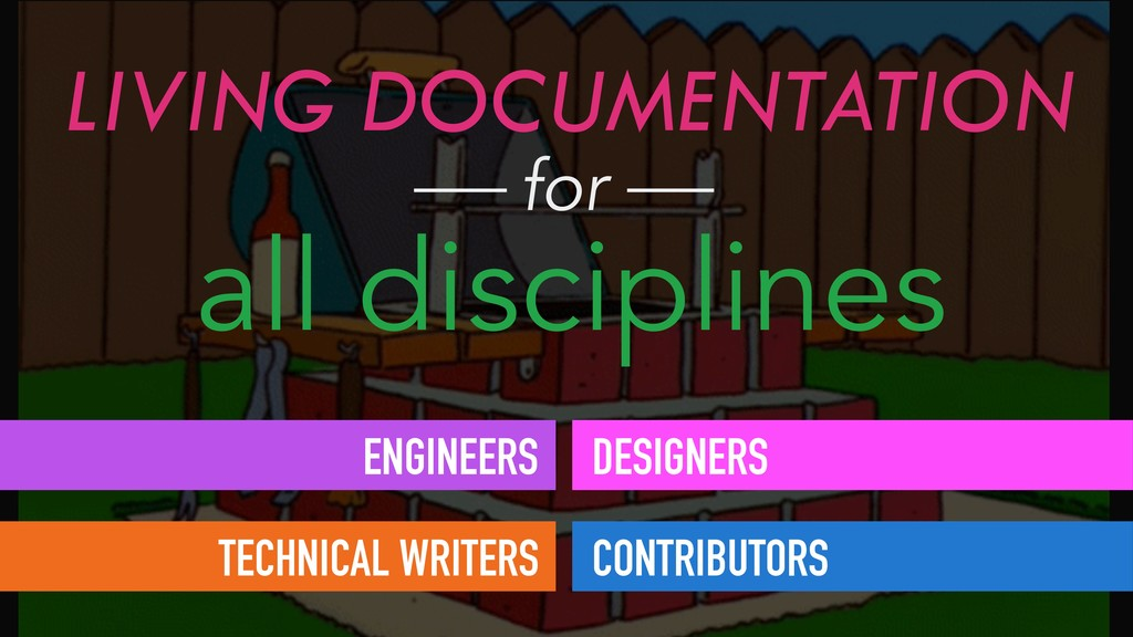 LIVING DOCUMENTATION all disciplines for ENGINE...