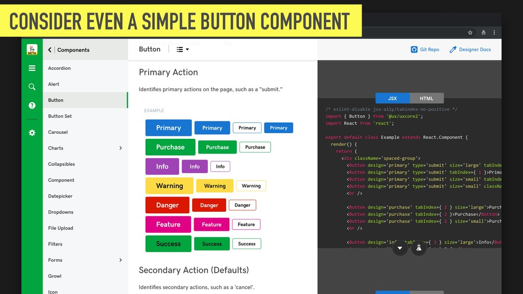 CONSIDER EVEN A SIMPLE BUTTON COMPONENT
