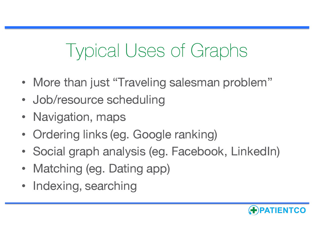 """Typical Uses of Graphs • More than just """"Travel..."""