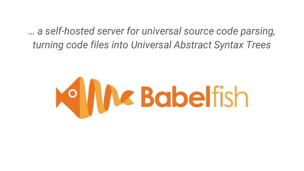 … a self-hosted server for universal source cod...