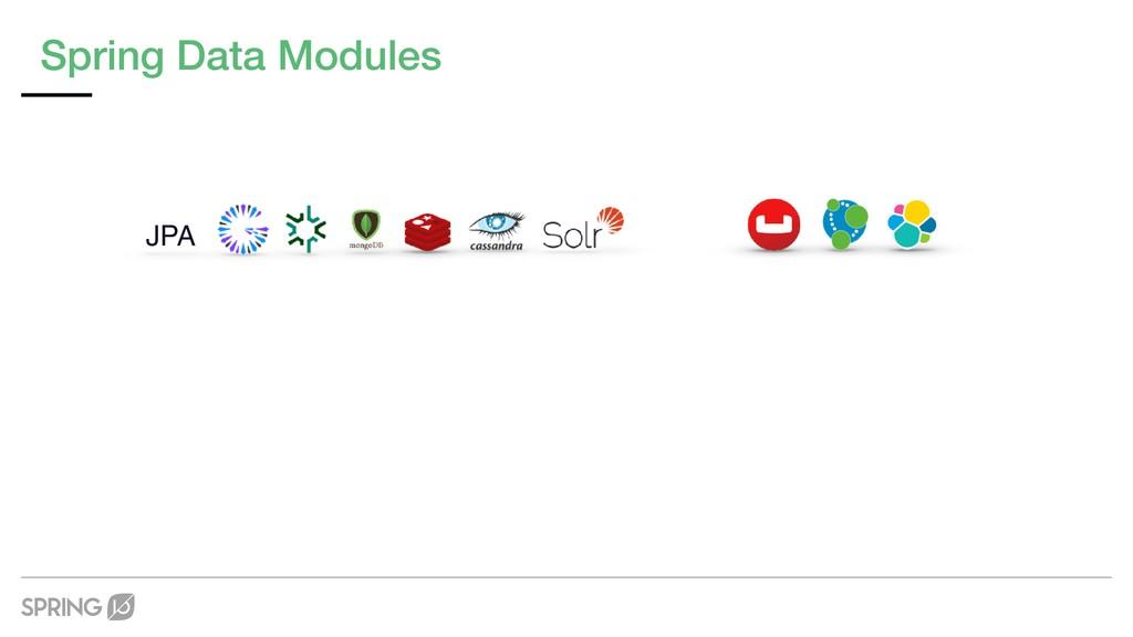 Spring Data Modules JPA