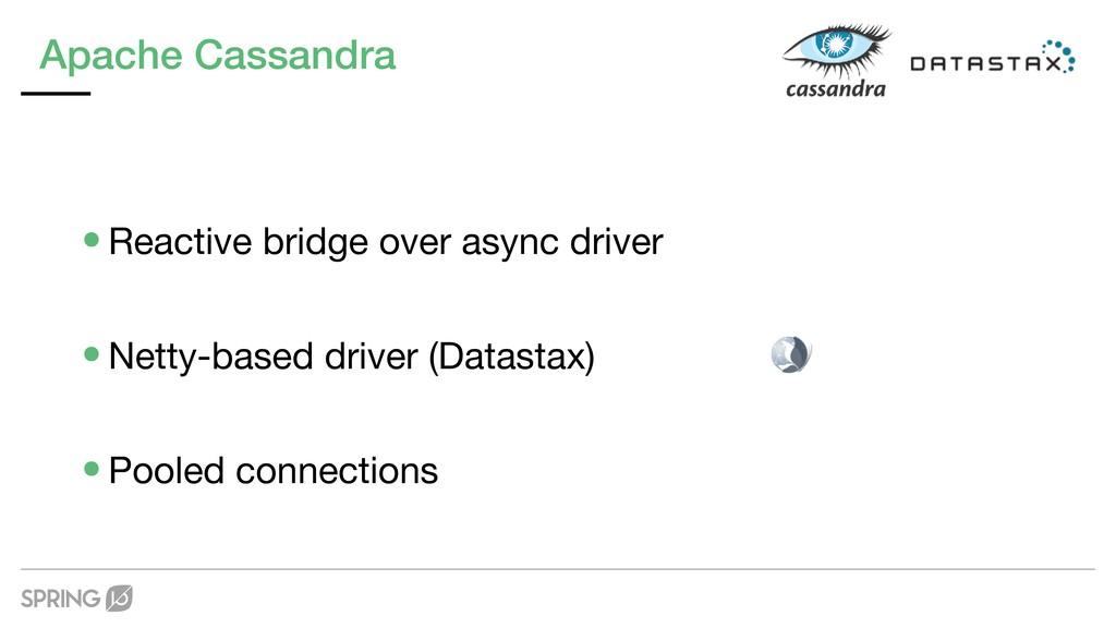 Apache Cassandra •Reactive bridge over async dr...