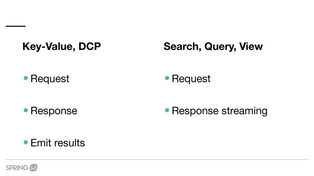 Key-Value, DCP •Request  •Response  •Emit resul...