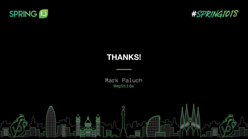 Mark Paluch @mp911de THANKS!