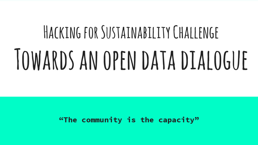 Hacking for Sustainability Challenge Towards an...