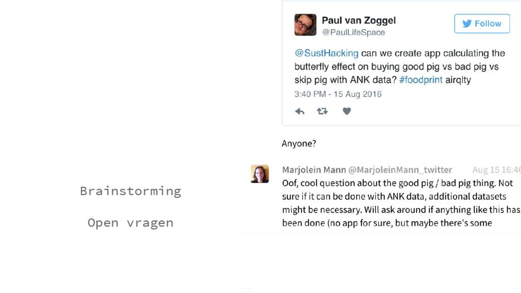 Brainstorming Open vragen
